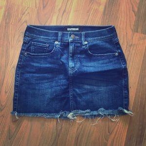 EXPRESS denim mini skirt!